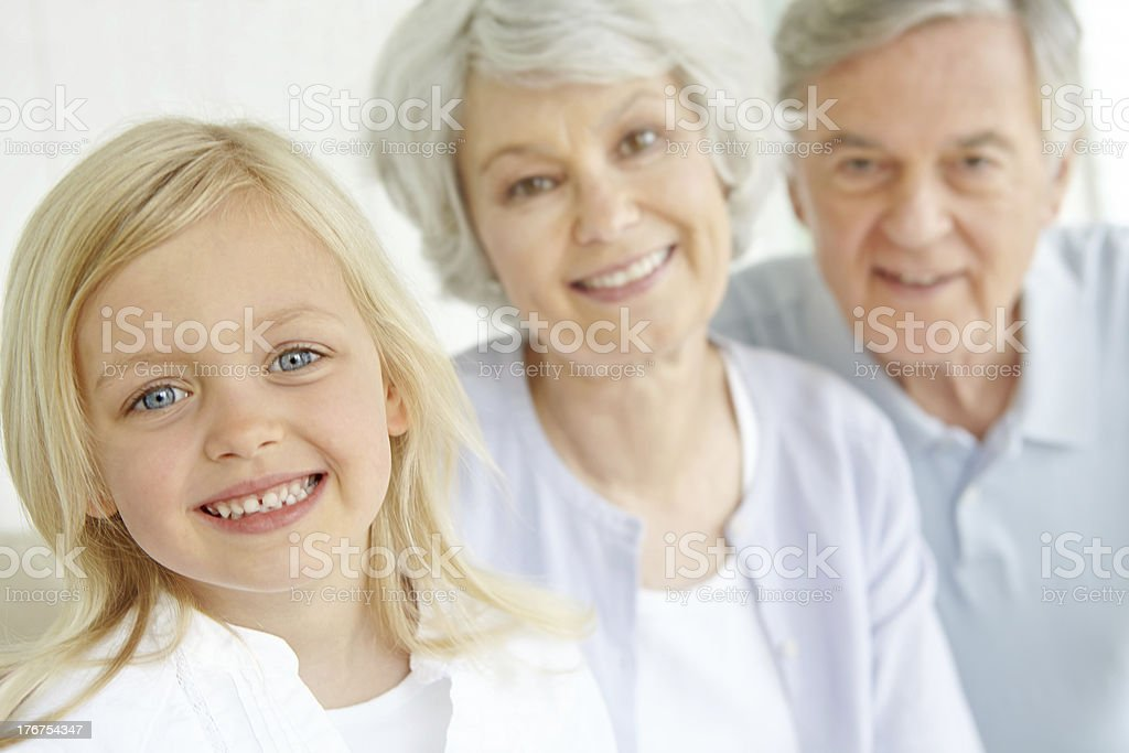I love coming to my grandparent's house royalty-free stock photo