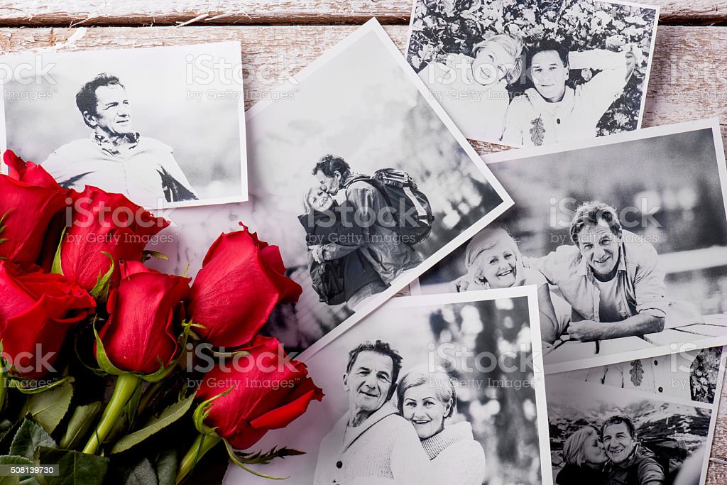 Love composition. Studio shot. stock photo