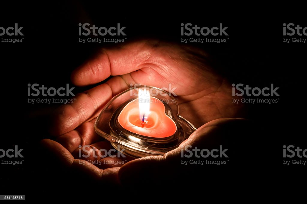 love concept with candle stock photo