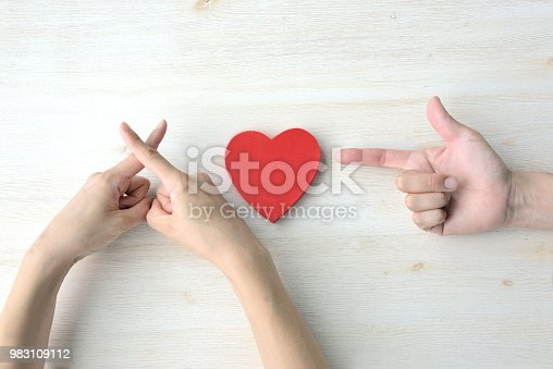 1125634038 istock photo Love concepts, sniping at your heart 983109112
