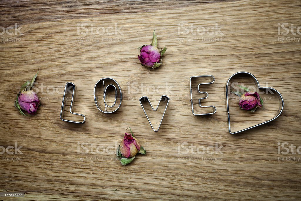 Love cookie cutter royalty-free stock photo