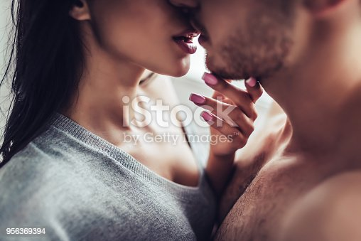 istock Love couple at home 956369394