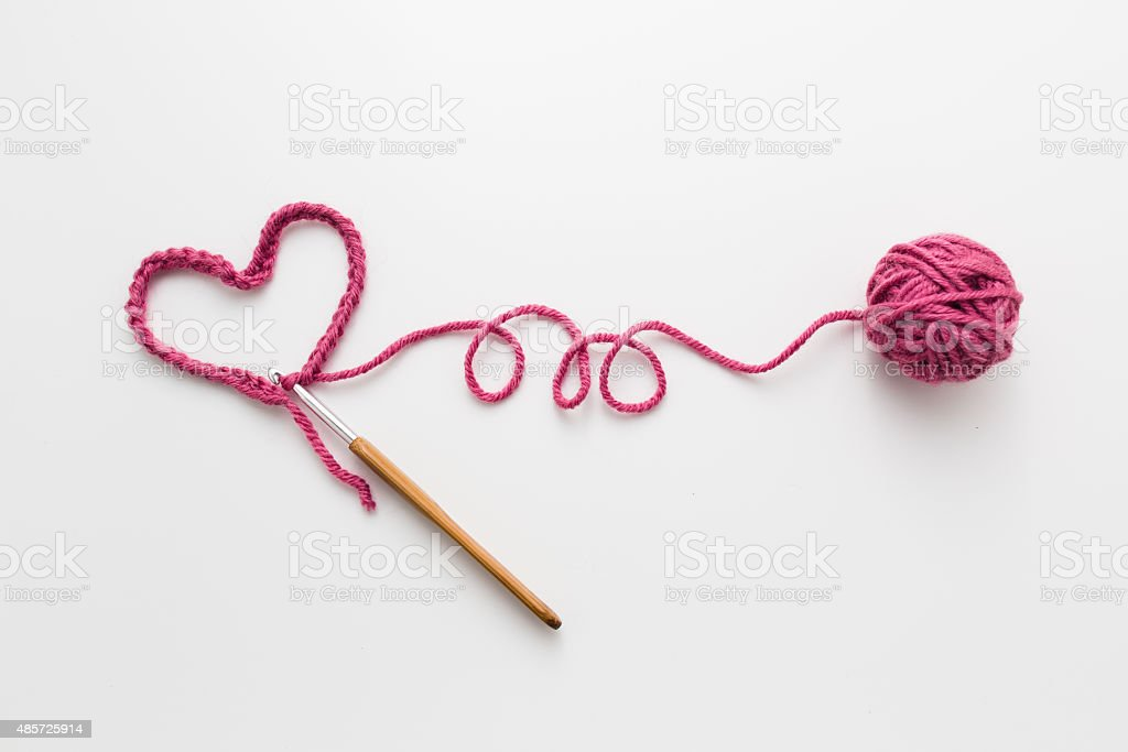 Love Crochet stock photo