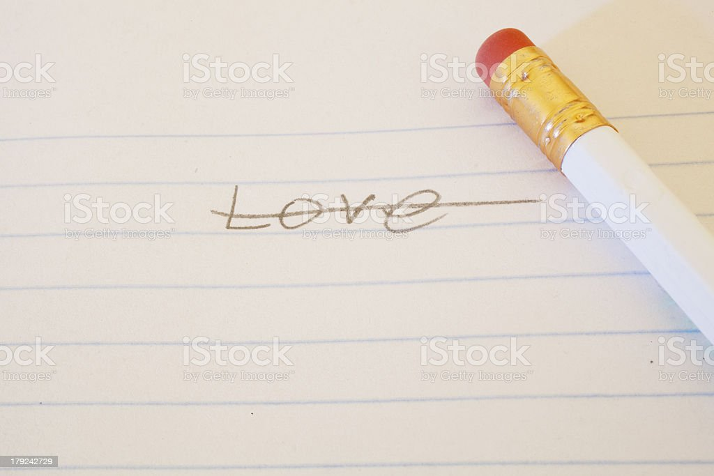 Love Crossed Out stock photo