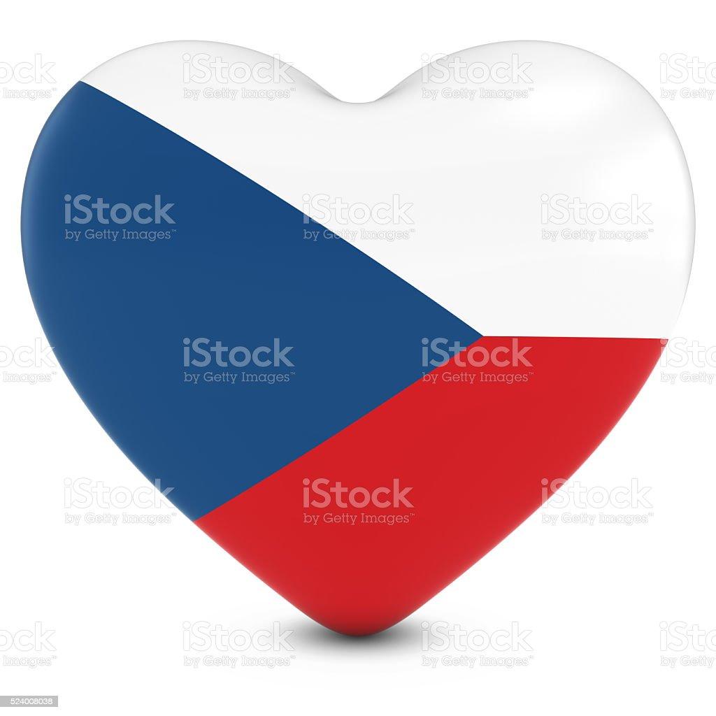 República Checa imagen concepto de Amor-Corazón con bandera checa - foto de stock