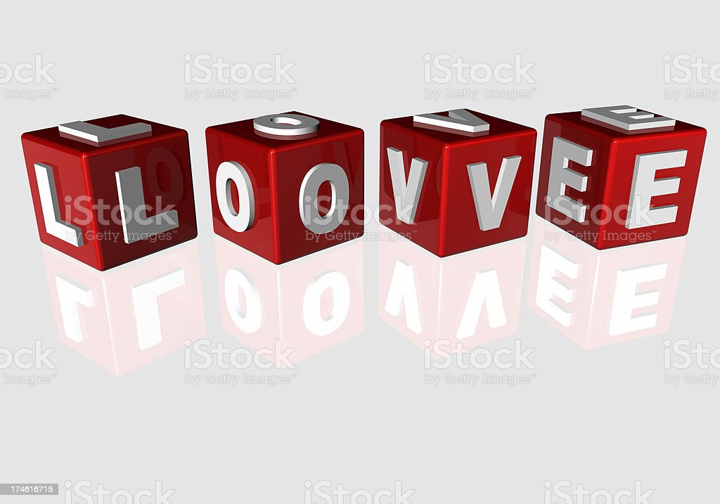 love dice cube royalty-free stock photo
