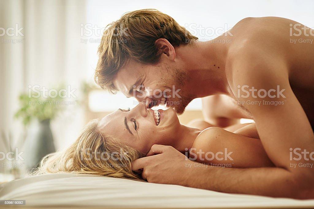 Love enhances sexual intimacy stock photo
