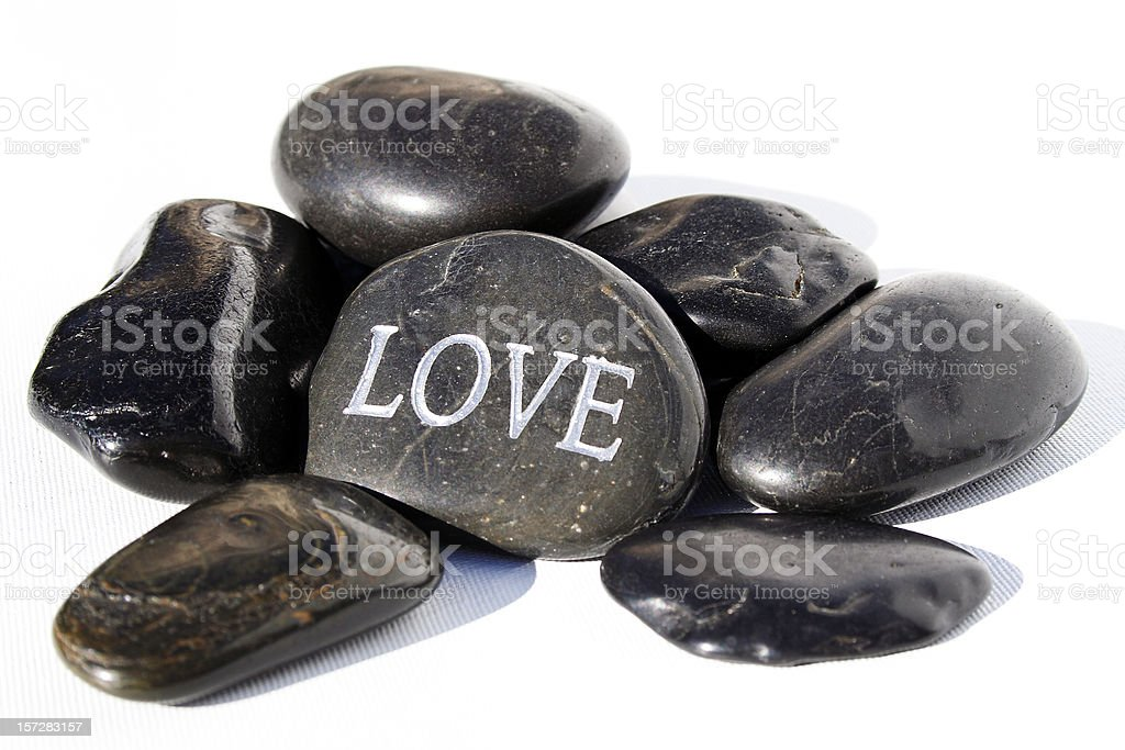 Love: etched in stone royalty-free stock photo