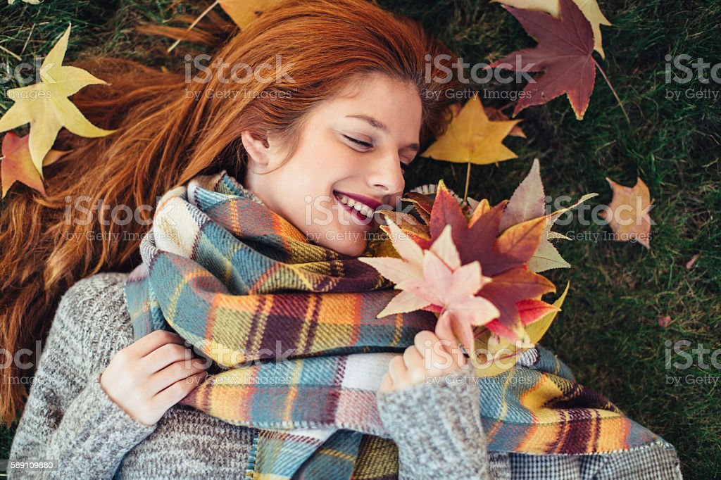 I love fall, most of all - foto de stock