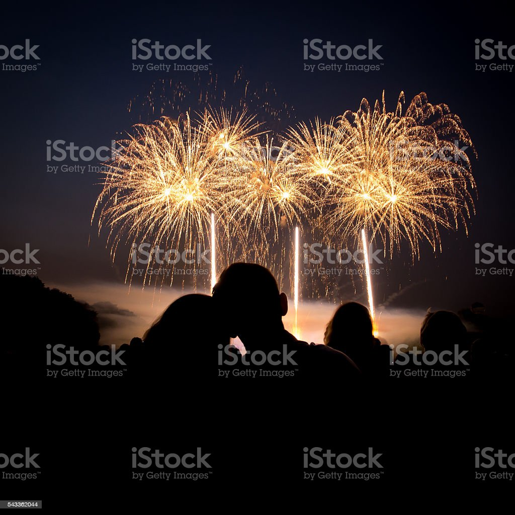 Love & Fireworks royalty-free stock photo