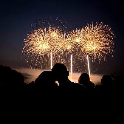 Love Fireworks Stock Photo - Download Image Now