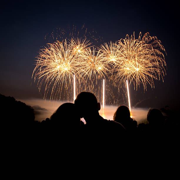 Love & Fireworks stock photo