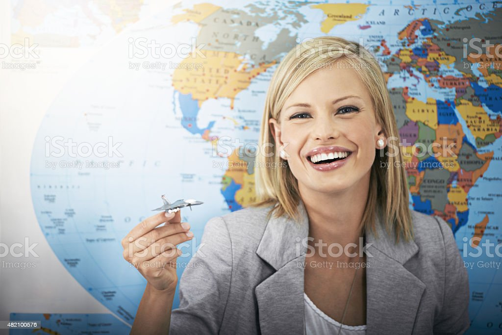 I love flying! stock photo