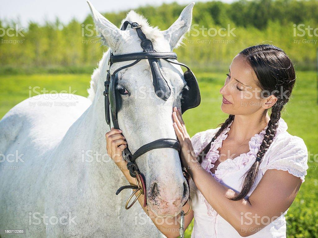 Love for horses royalty-free stock photo