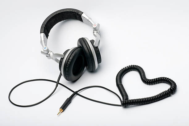 Love for Music - Headphones Heart (XXXL) stock photo