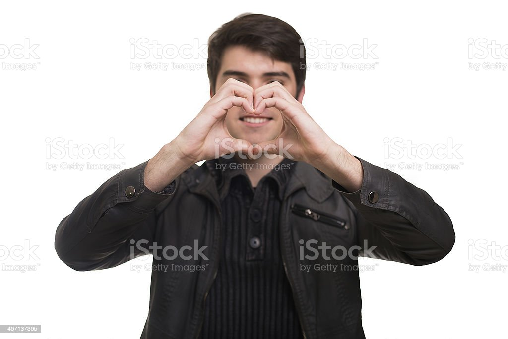 Love for my smile stock photo