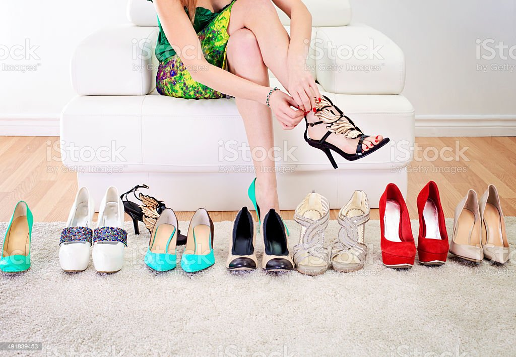 Love for shoes stock photo