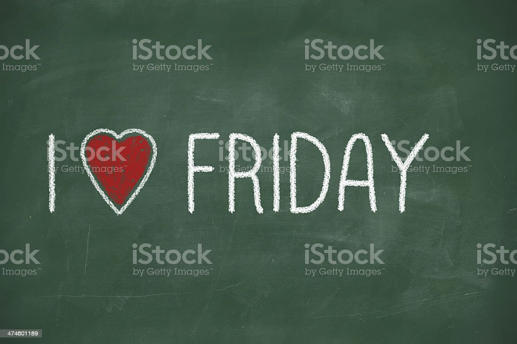 I love Friday stock photo