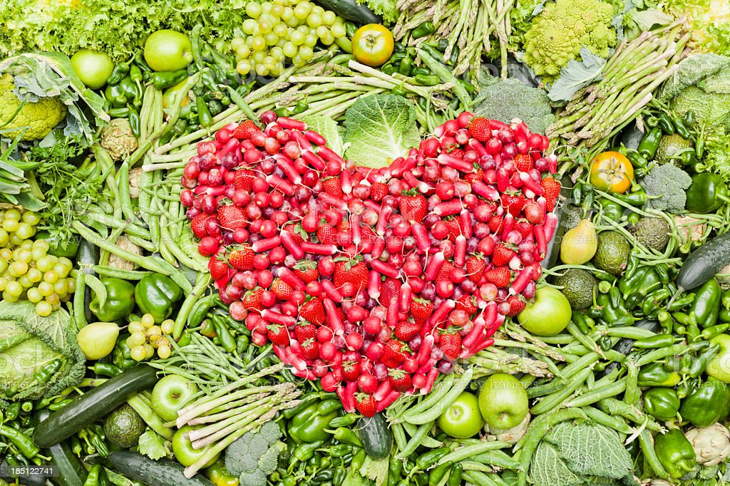 I love fruit and vegetables royalty-free stock photo