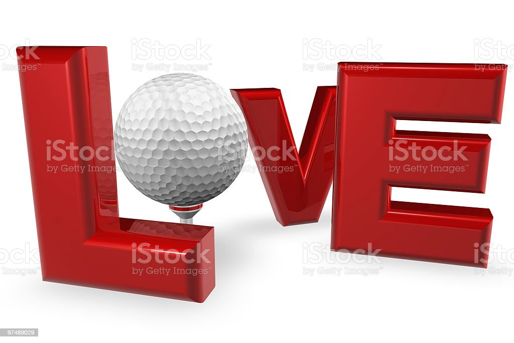 Love Golf royalty-free stock photo
