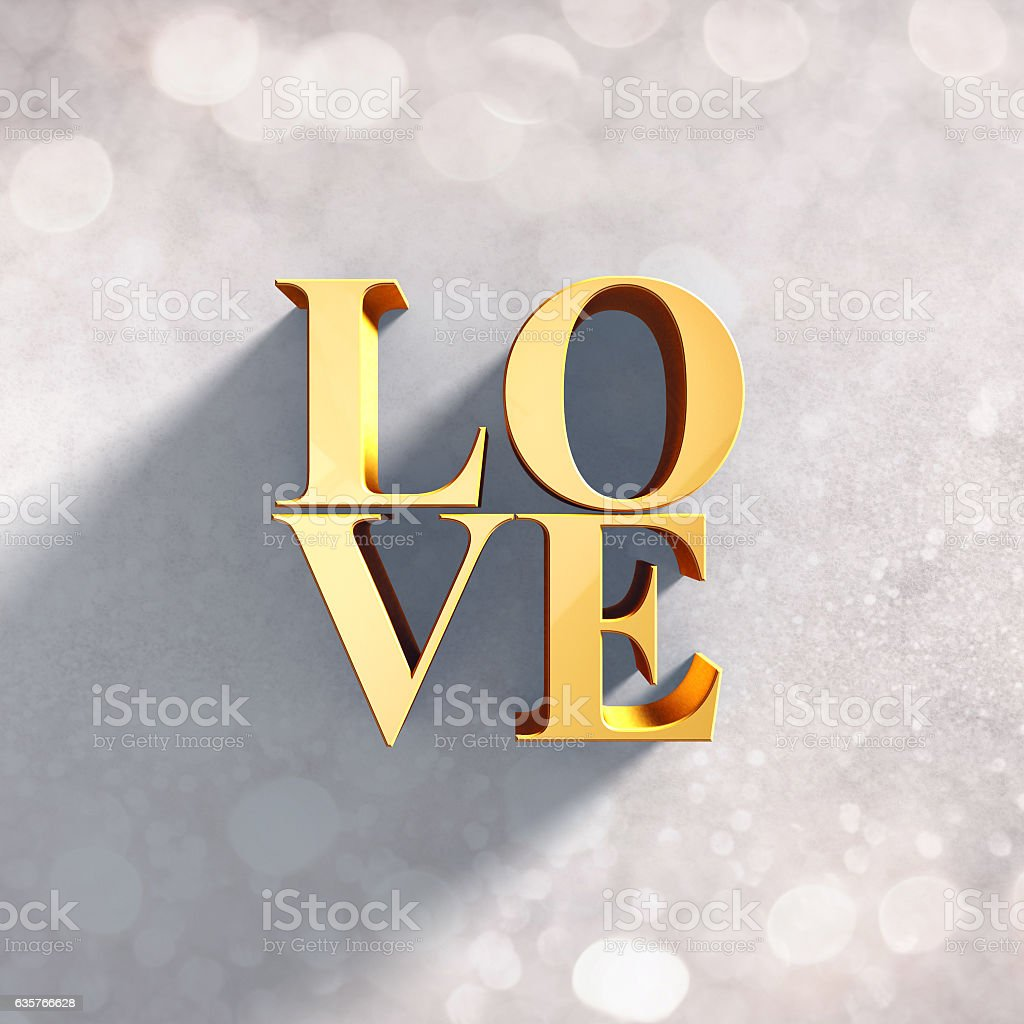 3D love greeting design stock photo