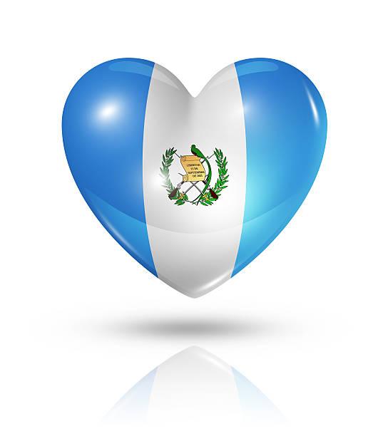 Amor corazón icono bandera de Guatemala, - foto de stock