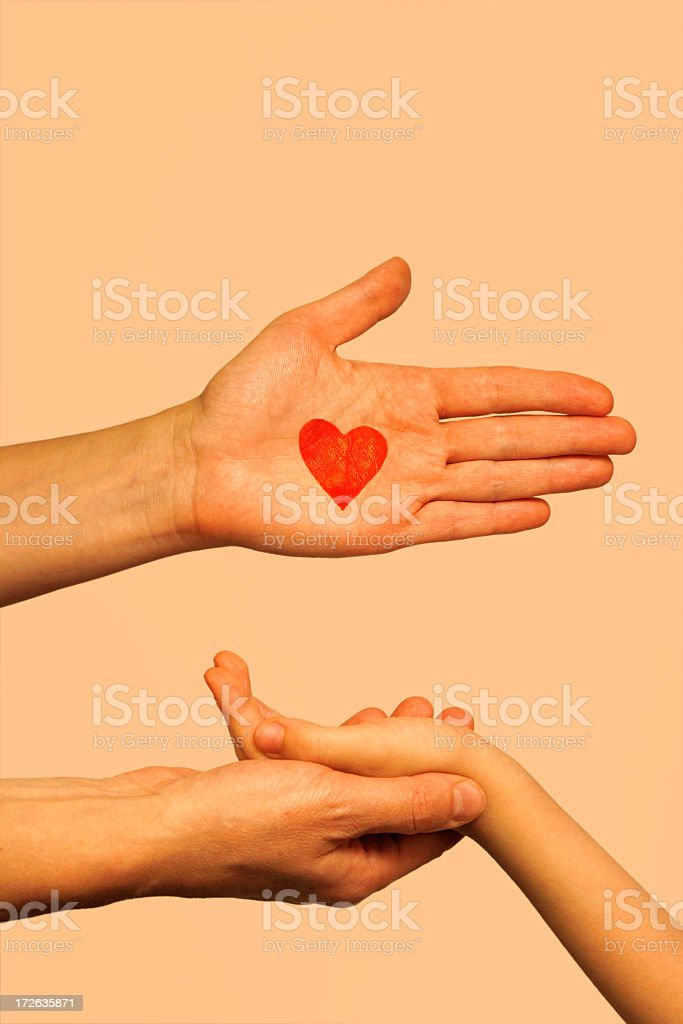 Love hands royalty-free stock photo