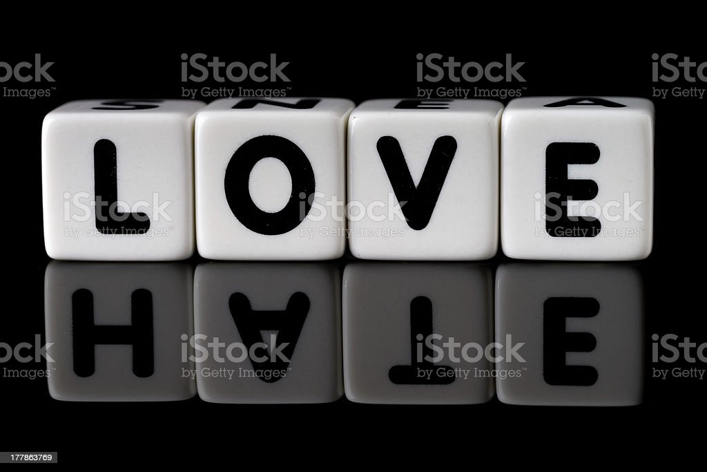 Love Hate Concept stock photo