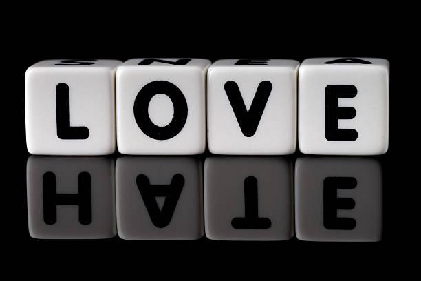 Love Hate Concept stock photo