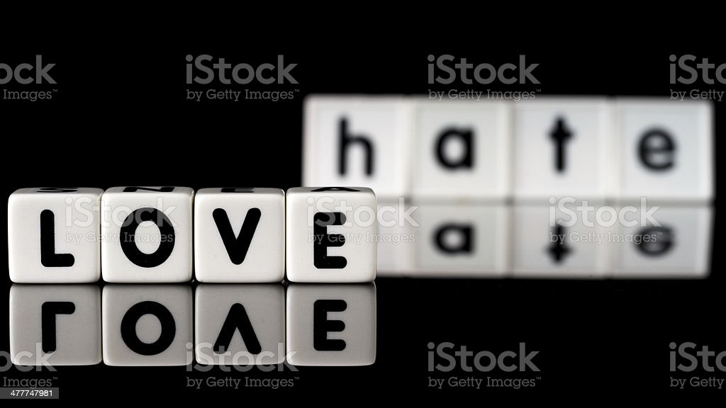Love Hate Concept royalty-free stock photo