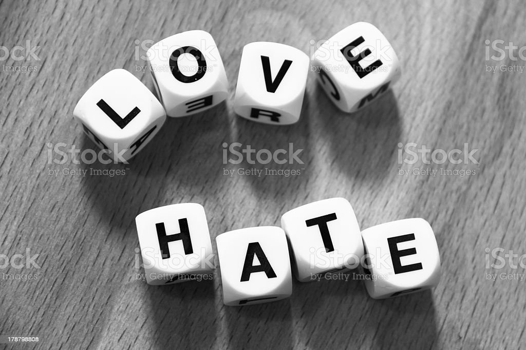 Love Hate royalty-free stock photo