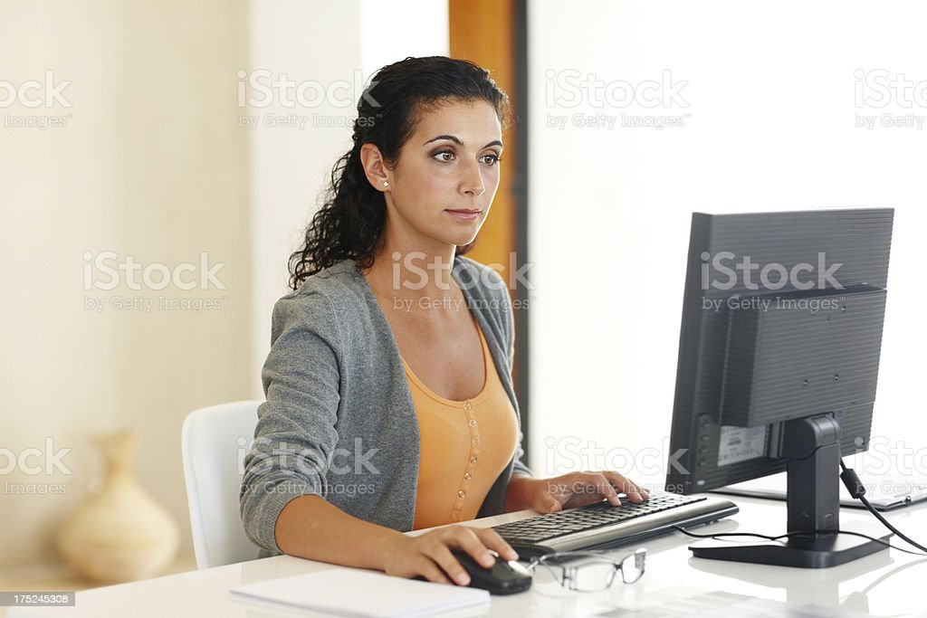 I love having the freedom to work from home - Royalty-free Adult Stock Photo