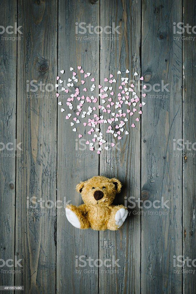 Liebe Herz und teddy – Foto