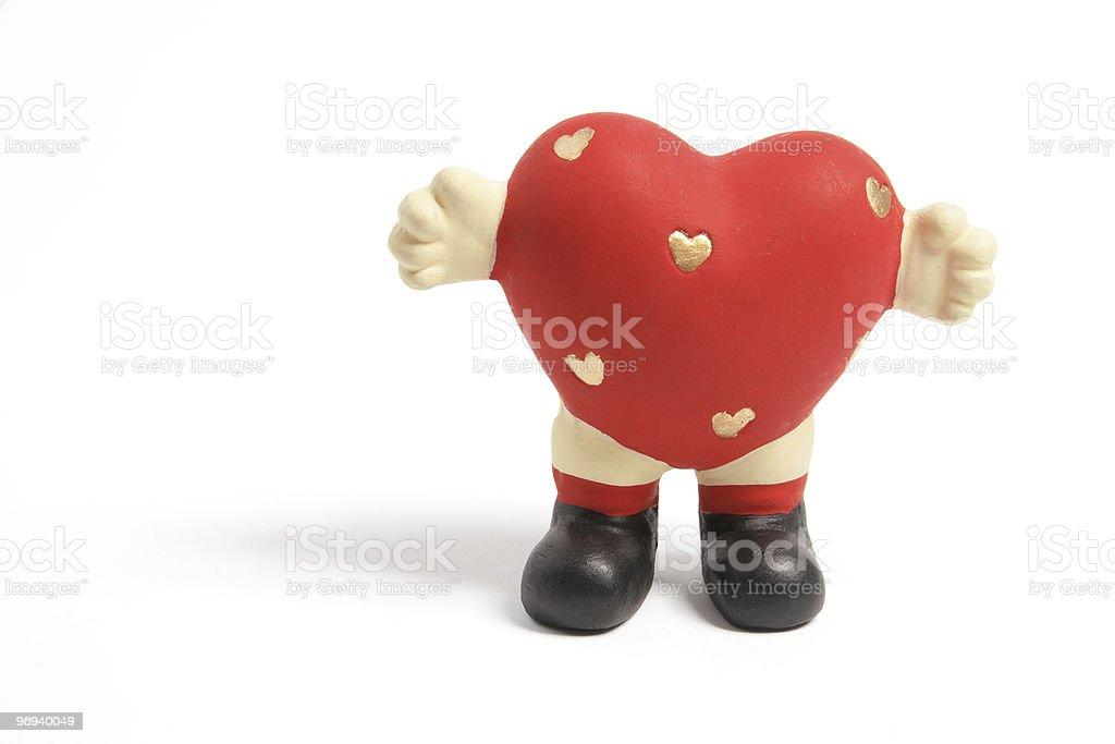Love Heart Figurine royalty-free stock photo