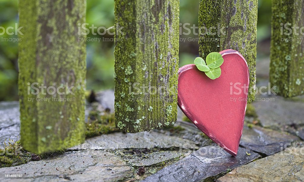 Love heart in a barren environment royalty-free stock photo