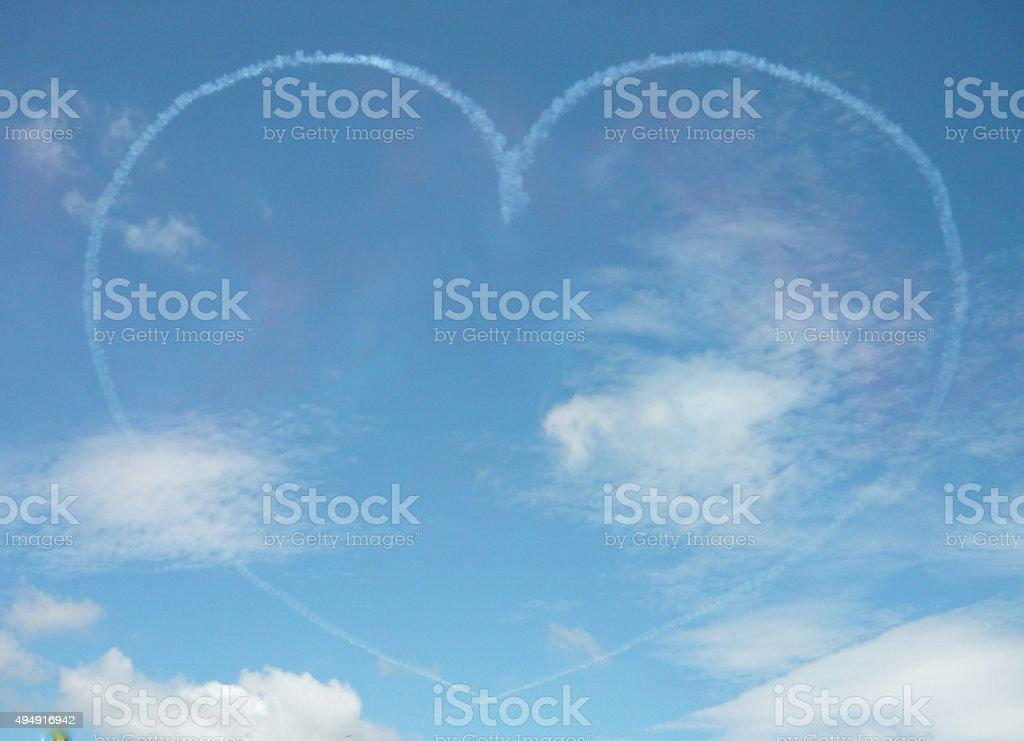 Love heart in the sky stock photo