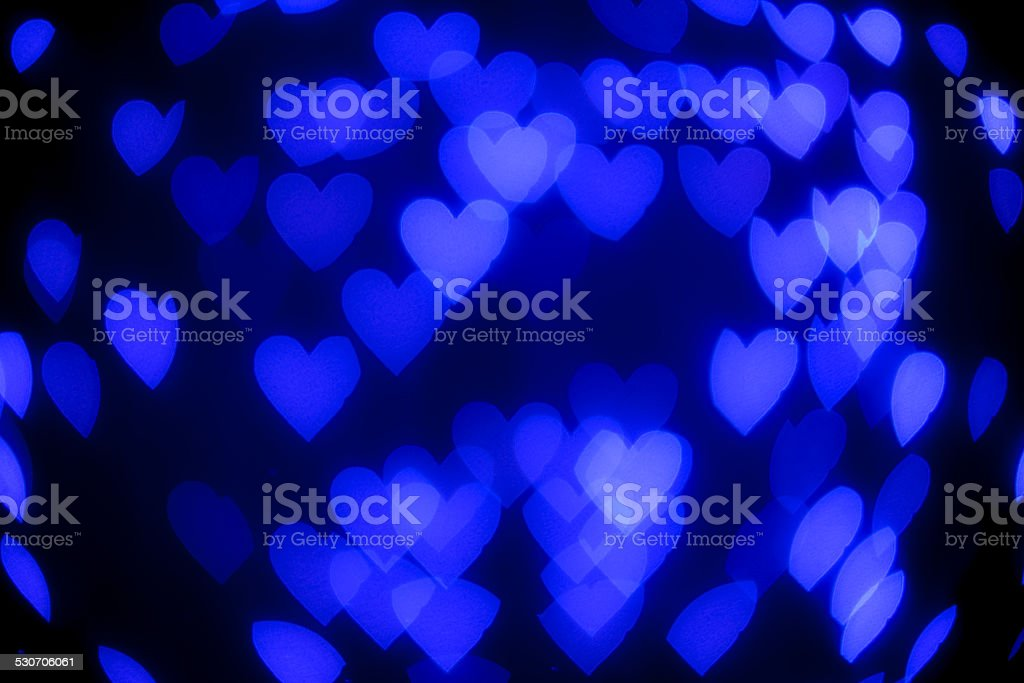 Love Heart blue Light defocused
