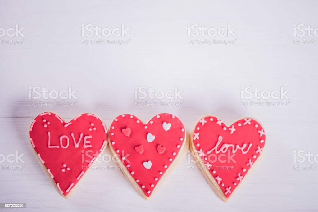 love heart shape bisquits cookies - Royalty-free Cookie Stock Photo