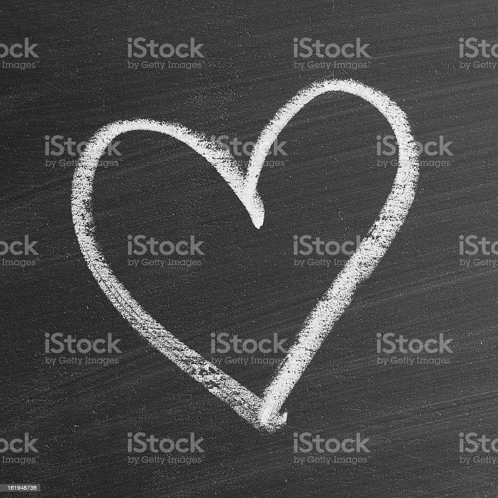 love heart symbol on a blackboard stock photo