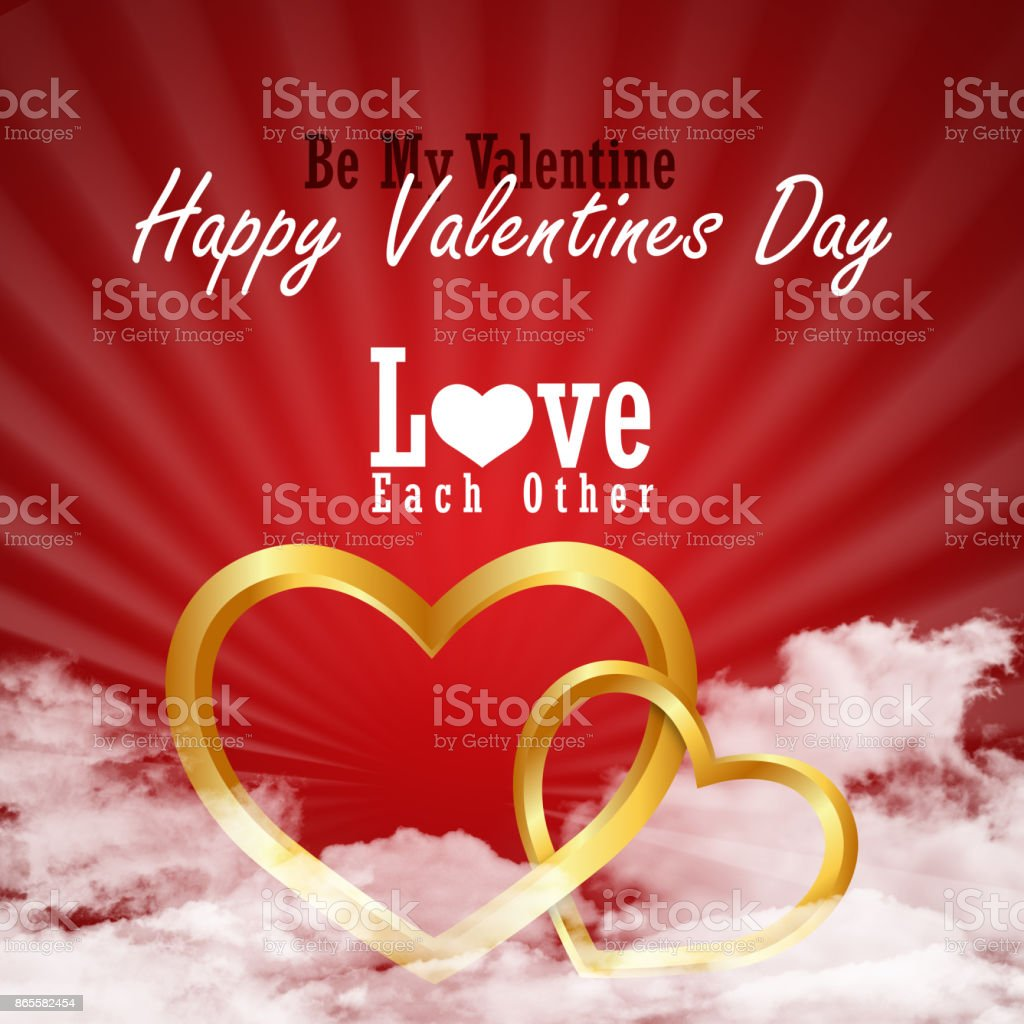 love heart, valentines day concept stock photo