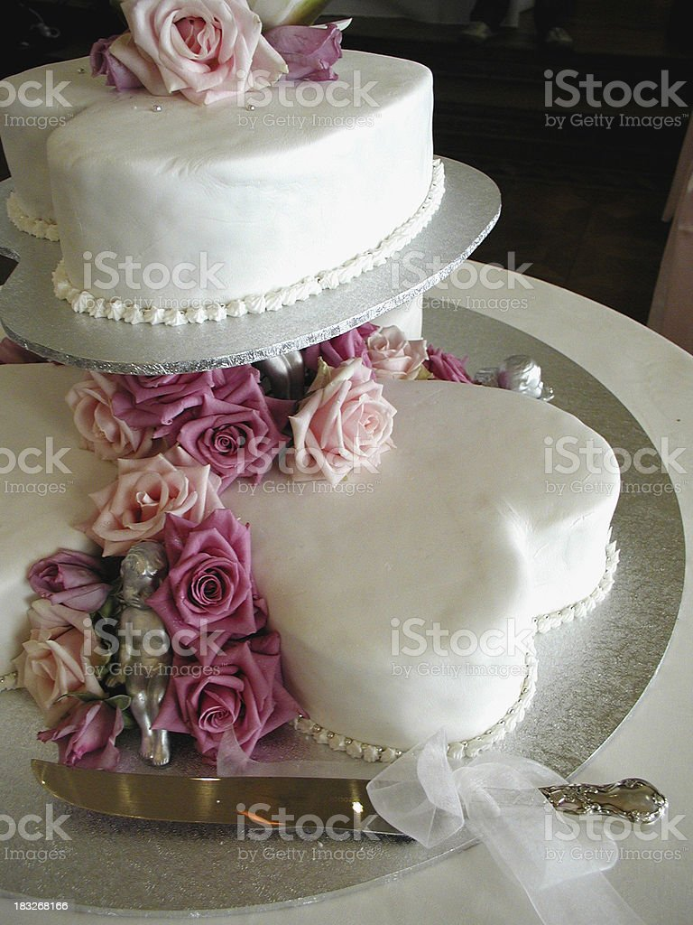 Love Heart Wedding Cake royalty-free stock photo