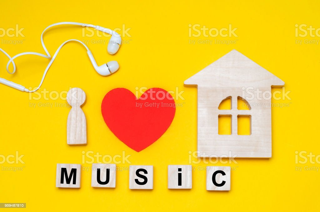 I Love House Music Electonic Music Electro Trance Deep House Stock