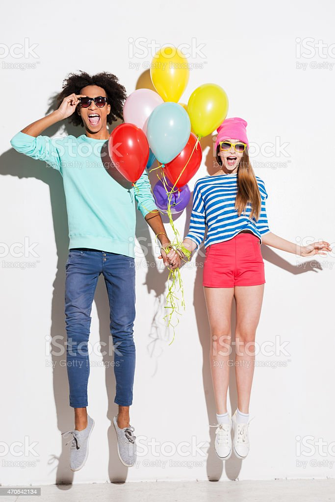 Love in all the colors of rainbows stock photo