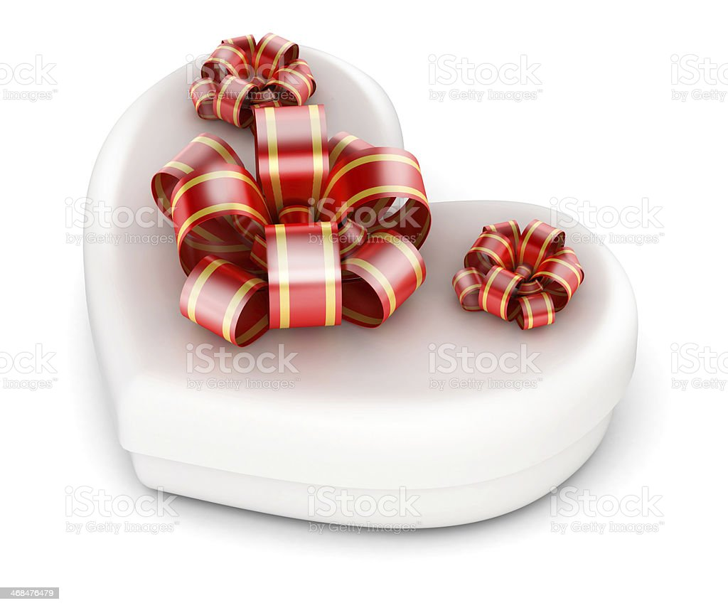 Love in gift box stock photo