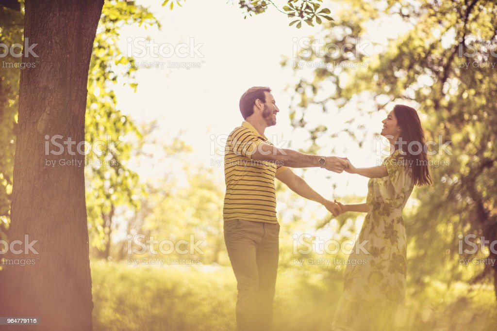 Love in nature. Middle age couple. royalty-free stock photo