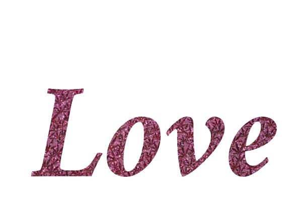 Love in Pink Glitter stock photo