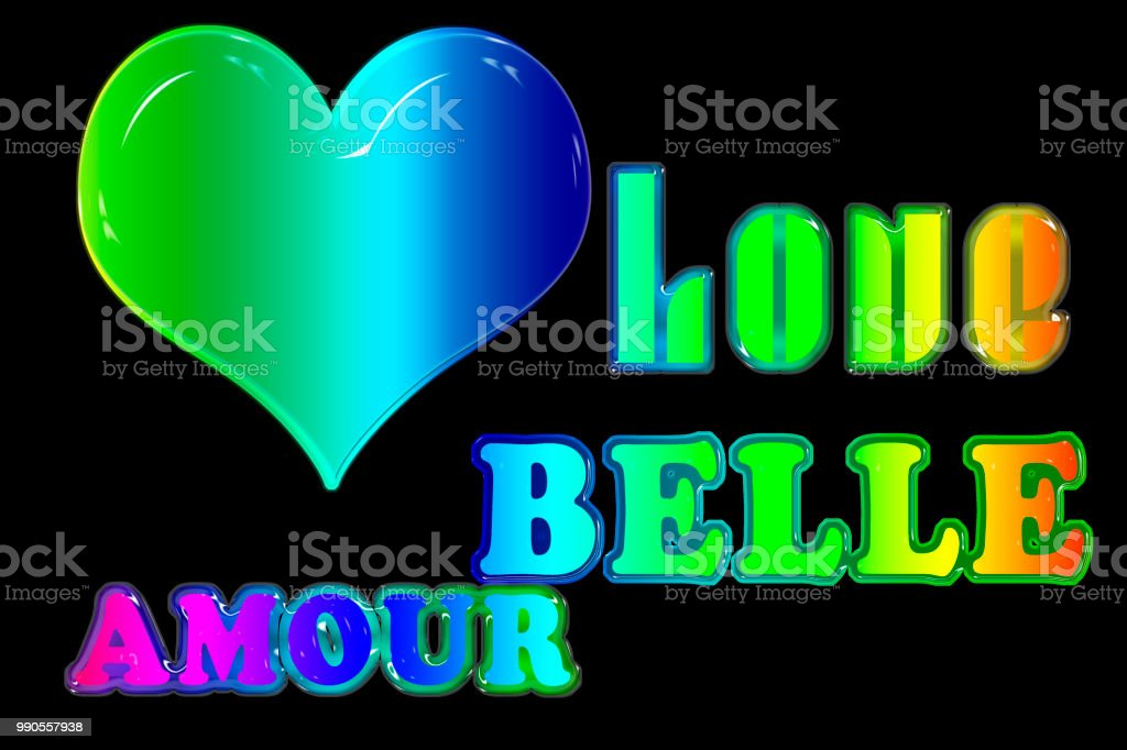 Amor Arco Iris Con Belle Amour Foto De Stock Y Más Banco De
