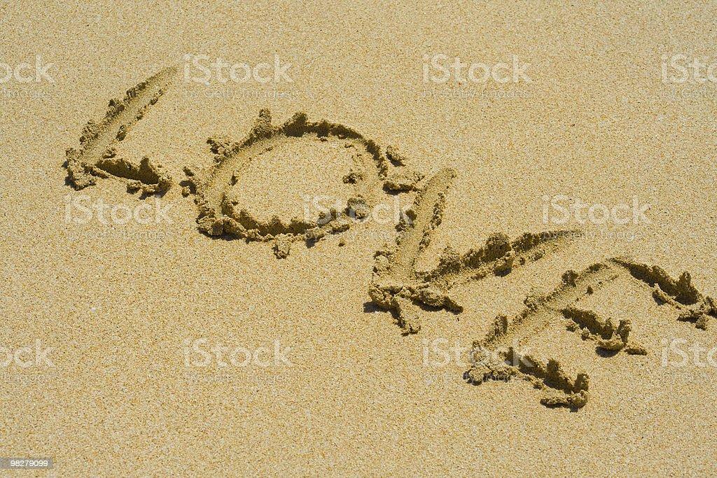 사랑입니다 모래 royalty-free 스톡 사진