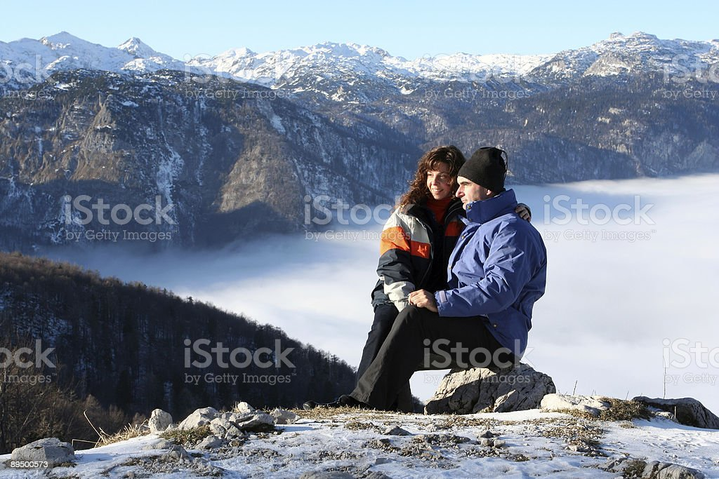 Amore nella neve foto stock royalty-free