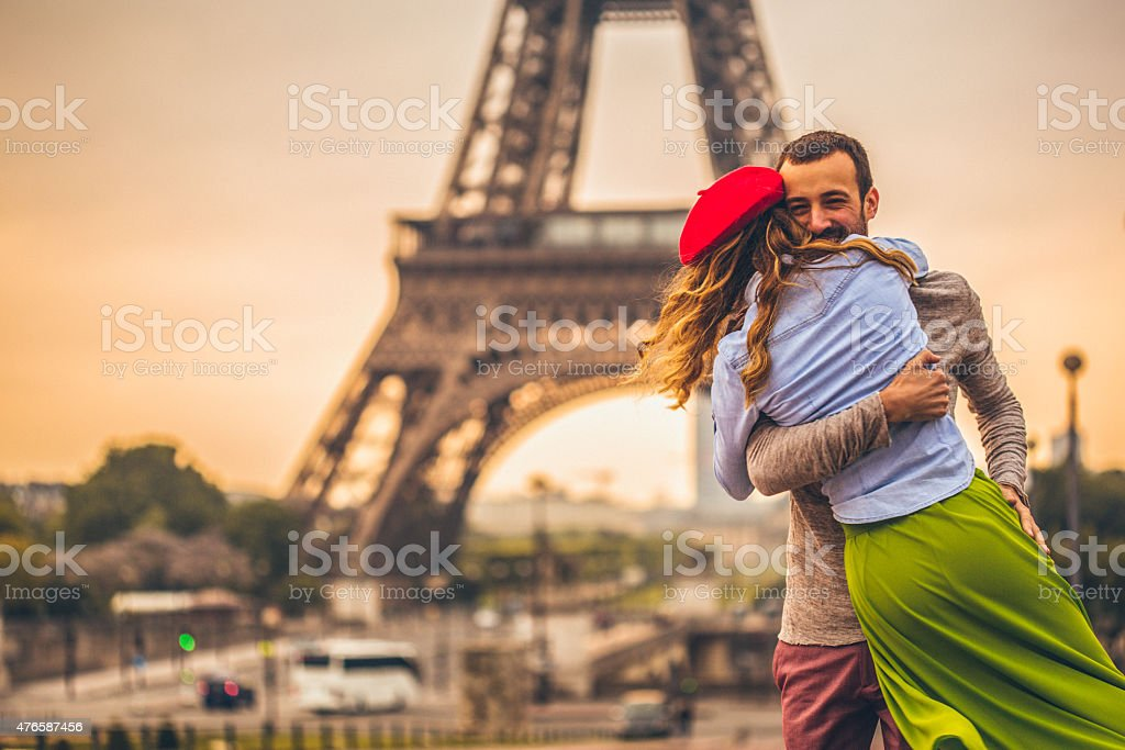 Love in the city of love stock photo